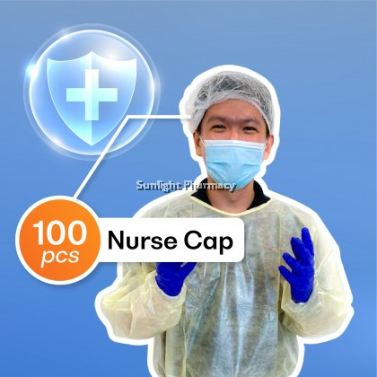 Ezylife Nurse Cap 100'S (Colour:White)
